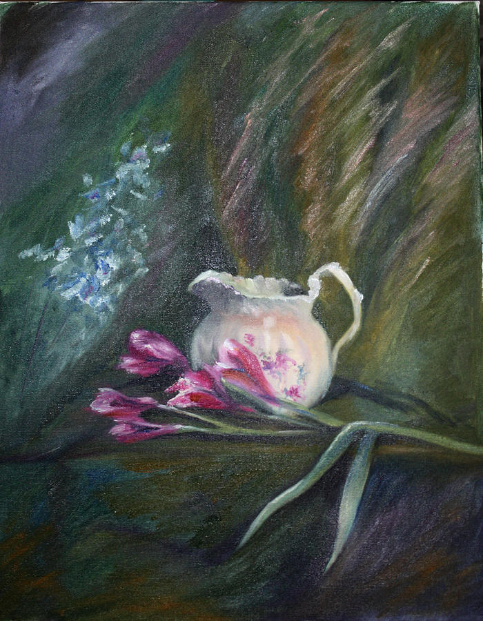 Floral Painting - Inside or Outside by Mary Beglau Wykes