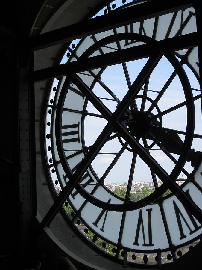 Clock Photograph - Inside Out Clock by Stephanie Hunter