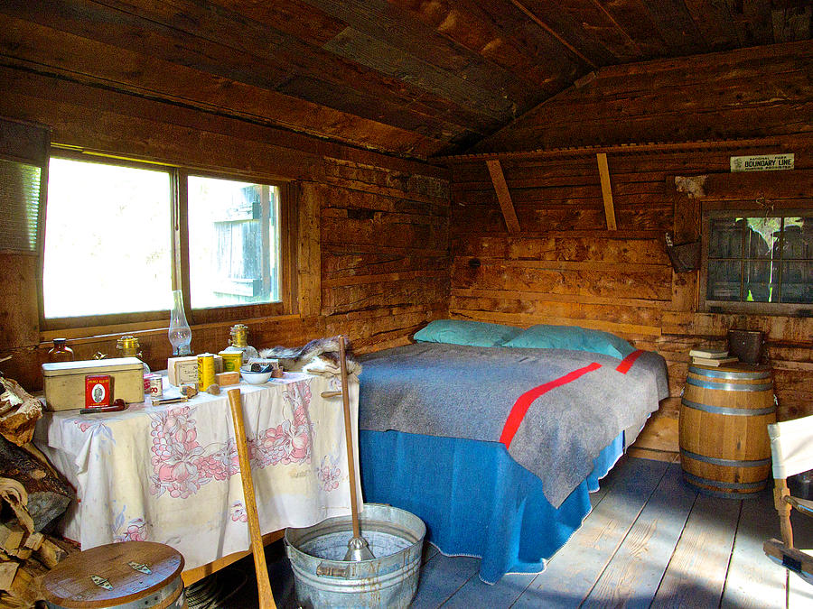 Beau Ak Photograph   Inside Savage River Cabin In Denali Np Ak By Ruth Hager