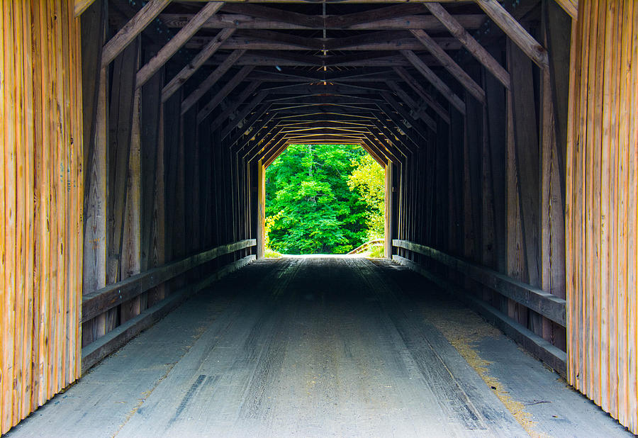 Bridge Photograph - Inside The Covered Bridge by Jason Brow