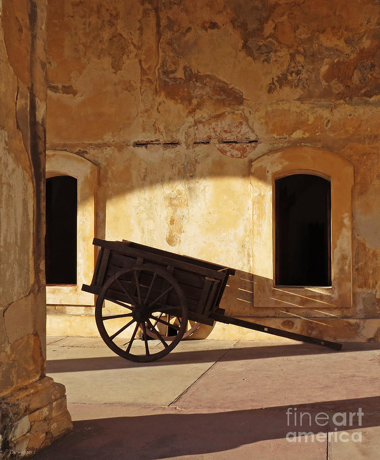 Cart Photograph - Inside The Fortress by Deborah Smith