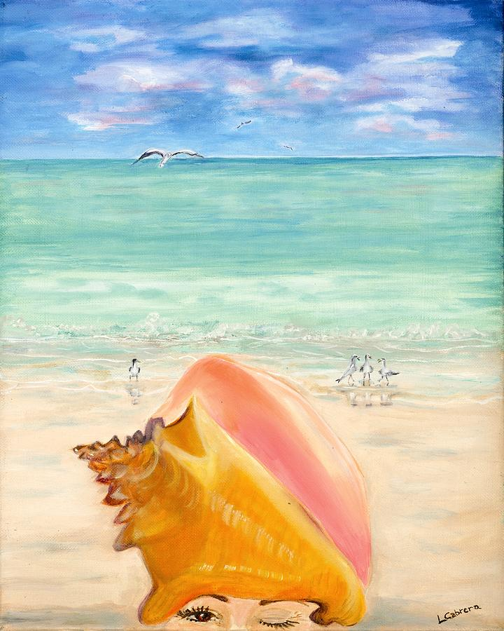 Inside the Head of a Conch Woman by Linda Cabrera