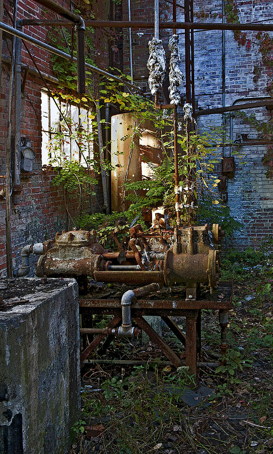 Factory Photograph - Inside The Old Factory by Murray Bloom