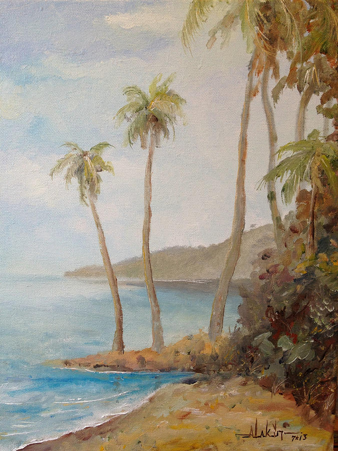 Island Painting - Inside The Reef by Alan Lakin