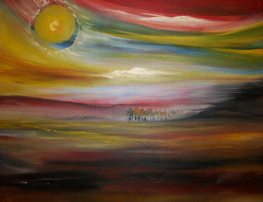 Landscape Painting - Inside The Sunset by Jake Huenink