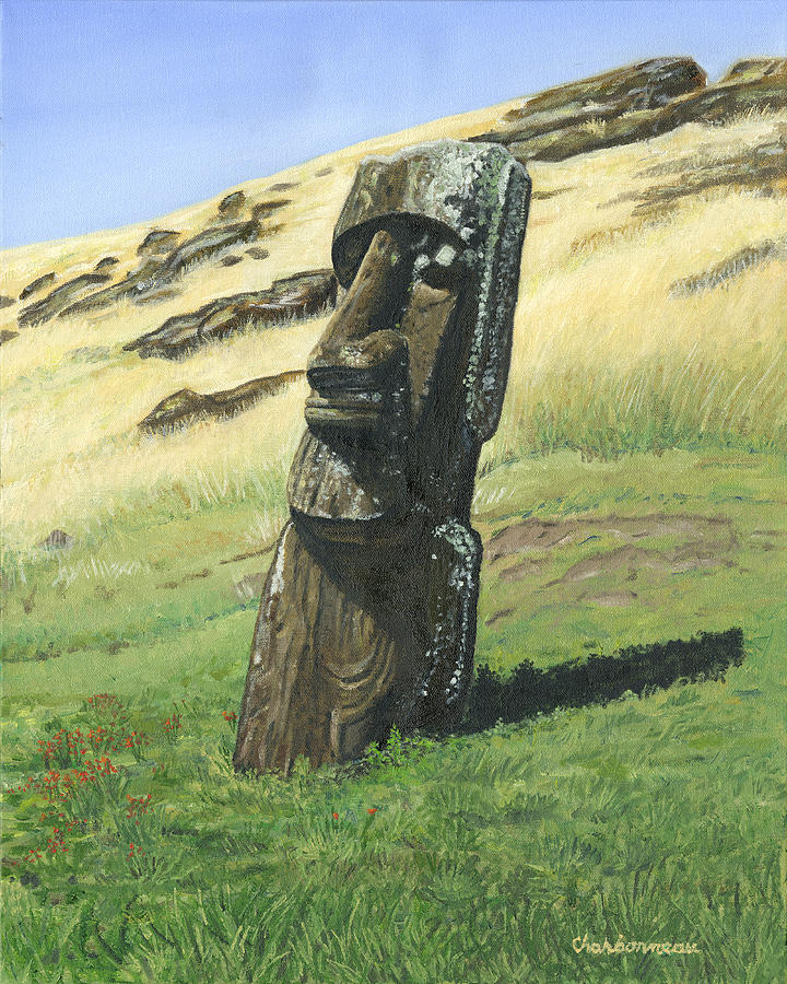 Easter Island Painting - Inside The Volcano by Brent Charbonneau
