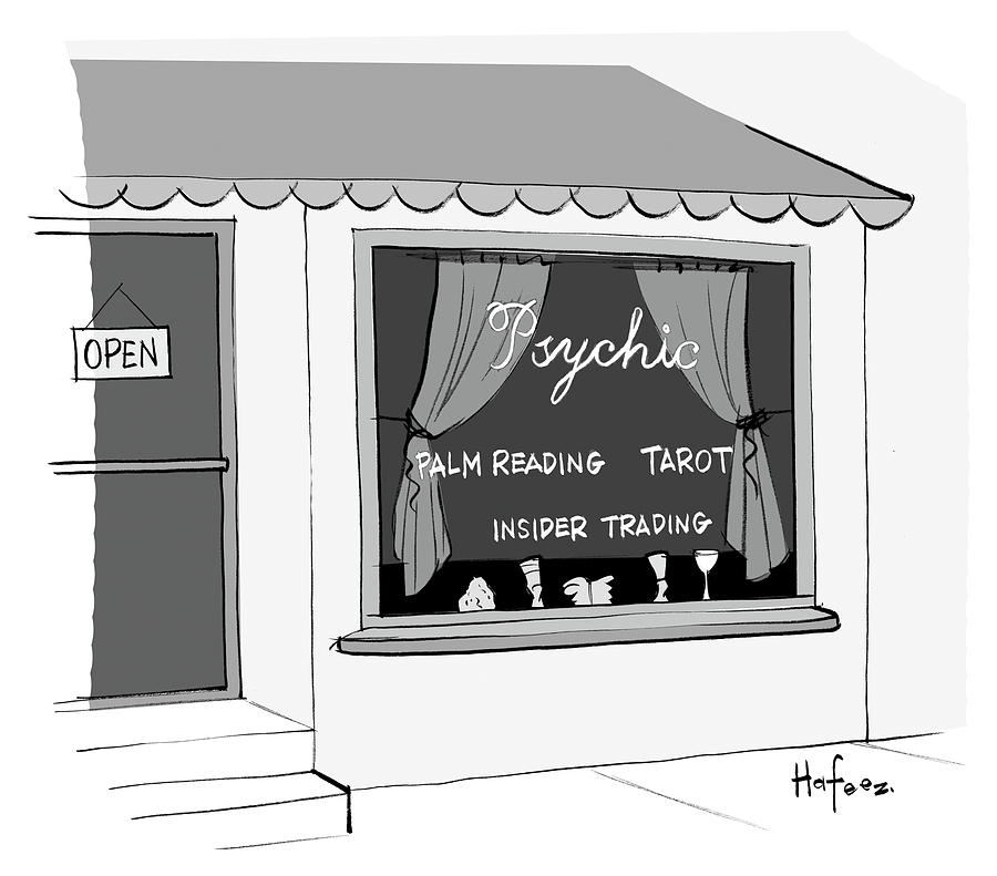 Psychic Drawing - Insider Trading by Kaamran Hafeez