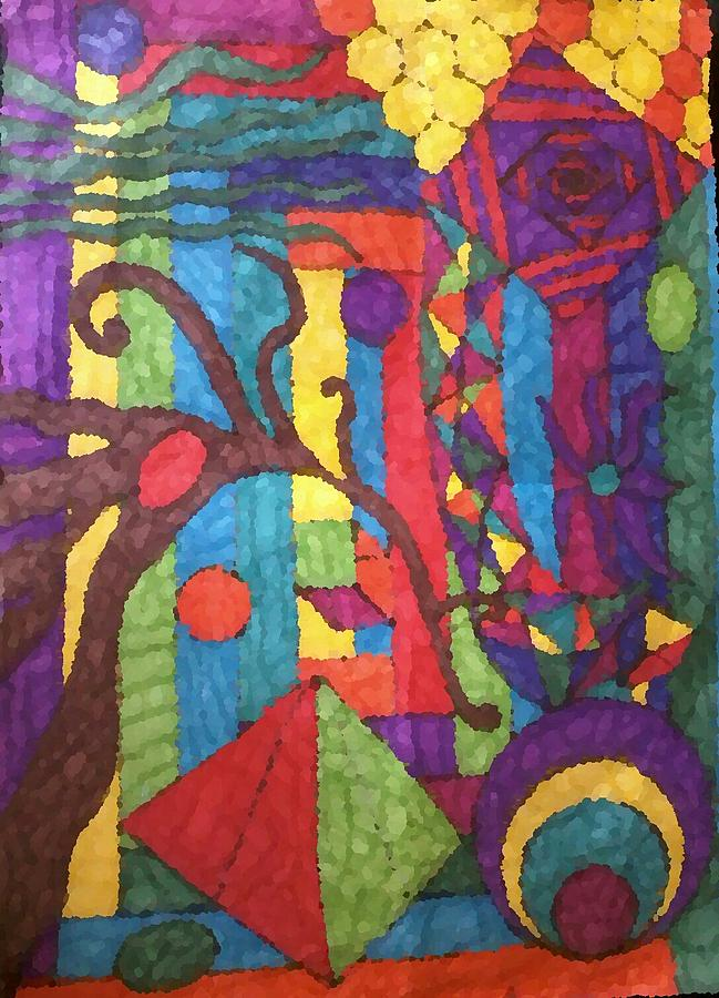 Colorful Drawing - Insomnia 1 by Sarah E Kohara