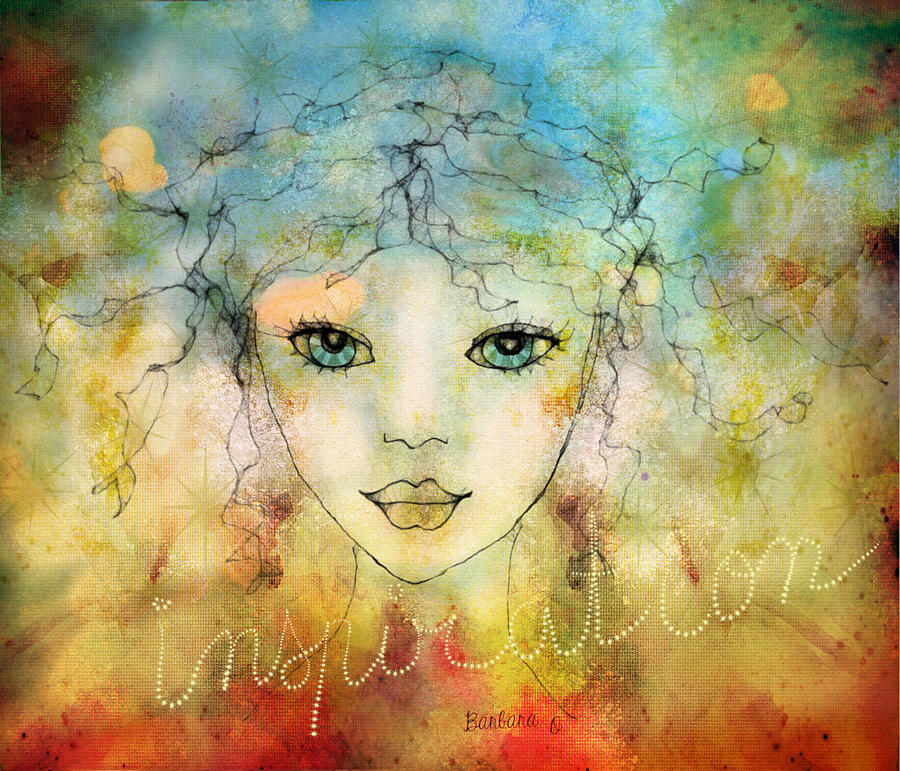 Girl Digital Art - Inspiration by Barbara Orenya
