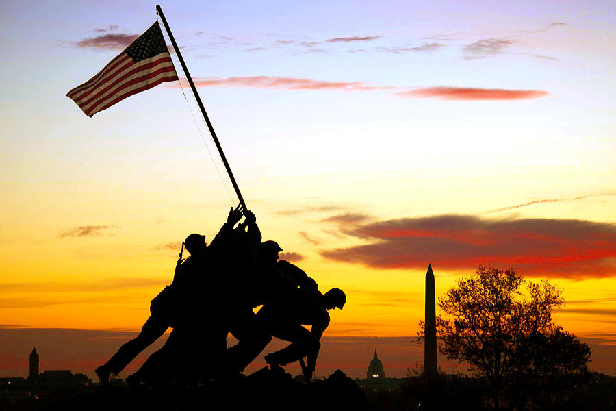 Marine Corps Memorial Photograph - Inspiration by Mitch Cat