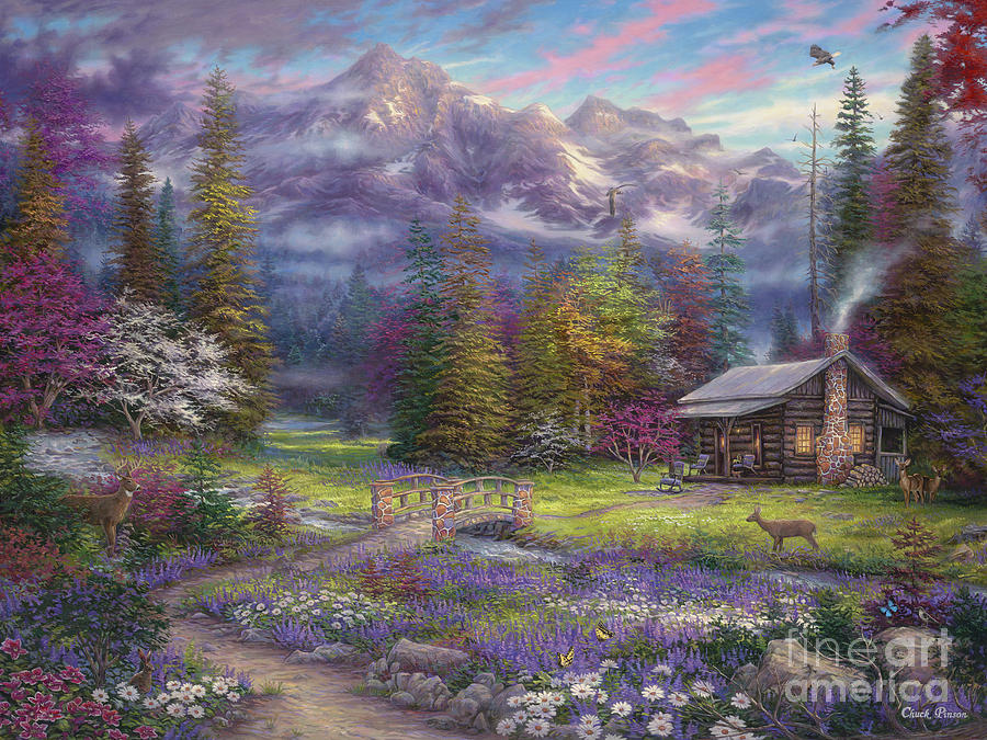 Inspiration Of Spring Meadows Painting By Chuck Pinson