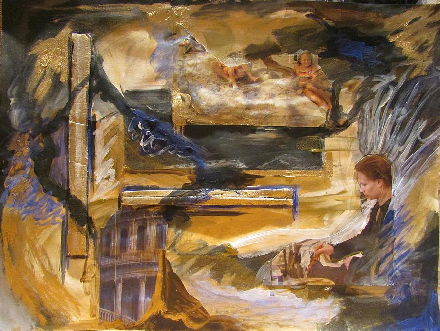 Abstract Painting - Inspiration by Svetlana Rudakovskaya