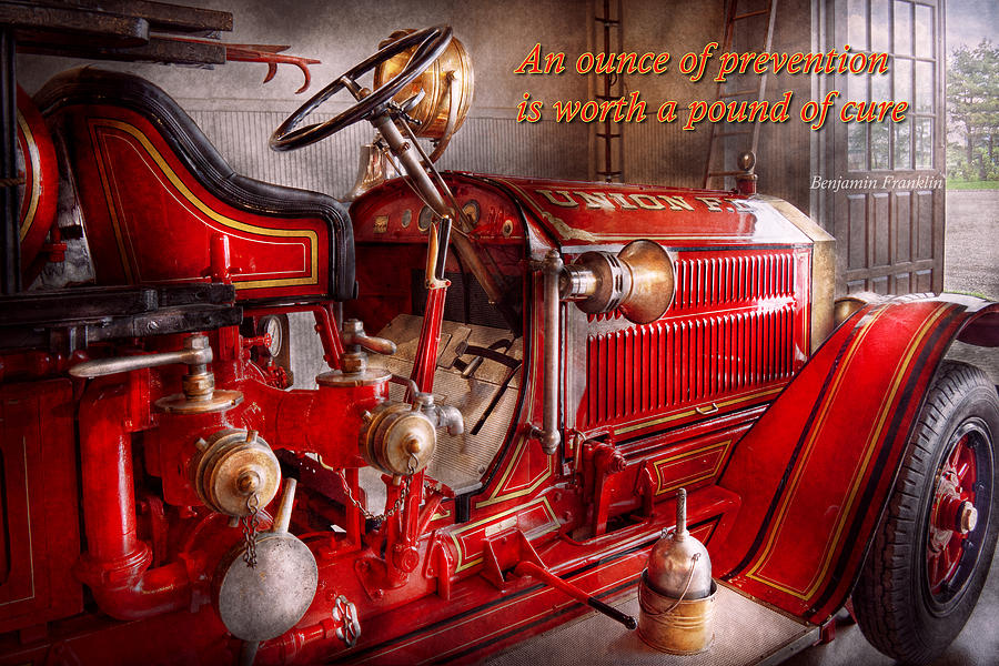 Fireman Photograph - Inspiration - Truck - Waiting For A Call by Mike Savad