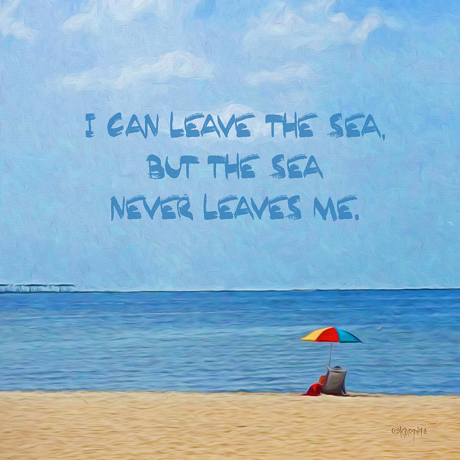 Quotes About Ocean: Inspirational Sea Quote Beach Seashore Coastal Photograph
