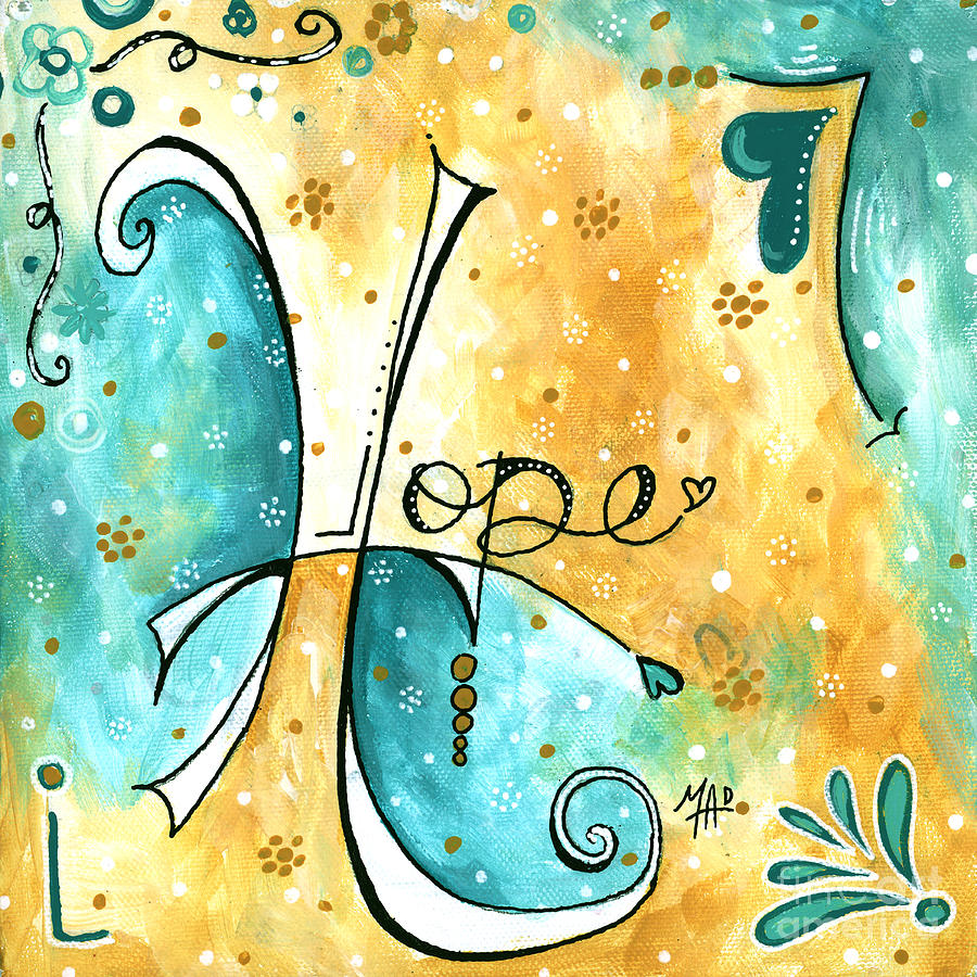 Inspirational Typography Word Art Hope Colorful Fun Pop Art Style ...