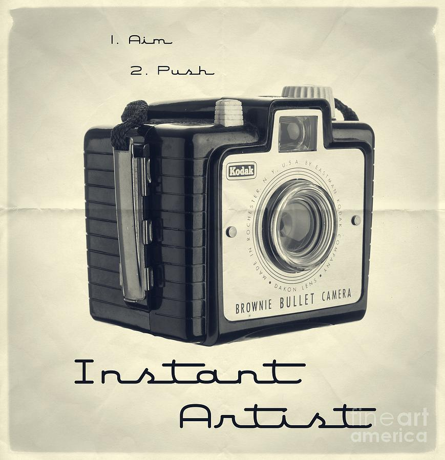 Camera Photograph - Instant Artist by Edward Fielding