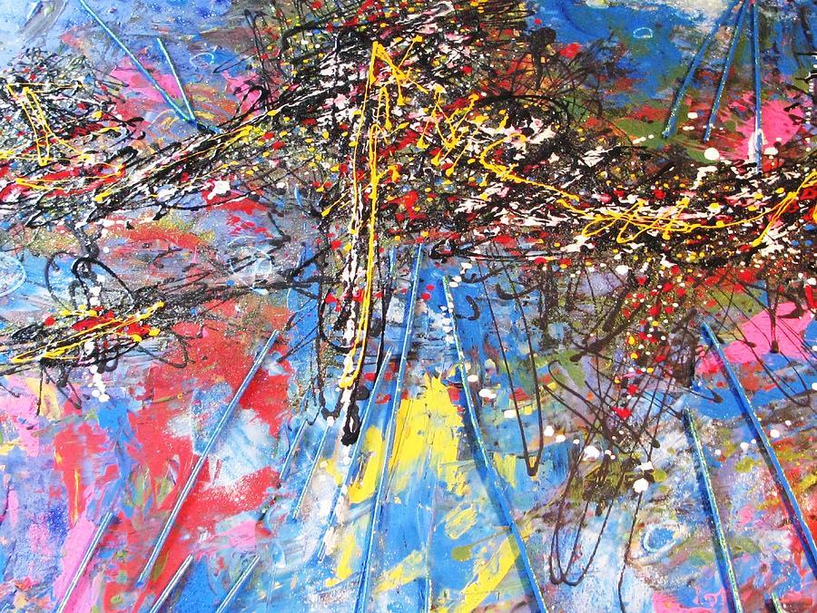 Abstrait Mixed Media - Instant Fragile by Marcelle Hamelin
