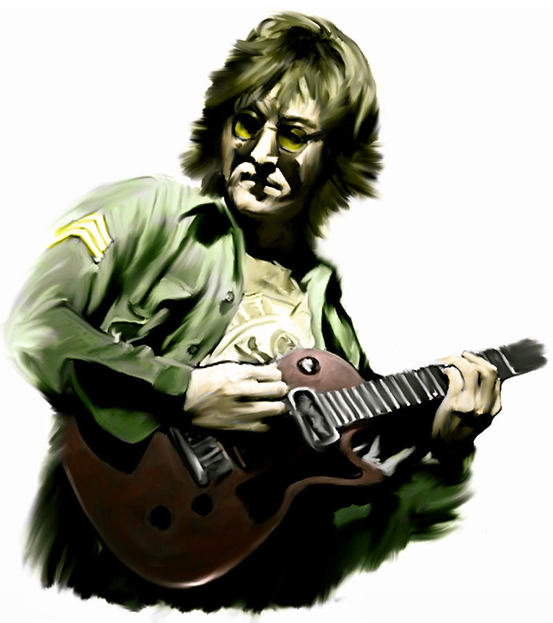 John Lennon Painting - Instant Karma  John Lennon by Iconic Images Art Gallery David Pucciarelli