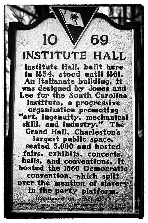 Grand Hall Photograph - Institute Hall Memorial by John Rizzuto