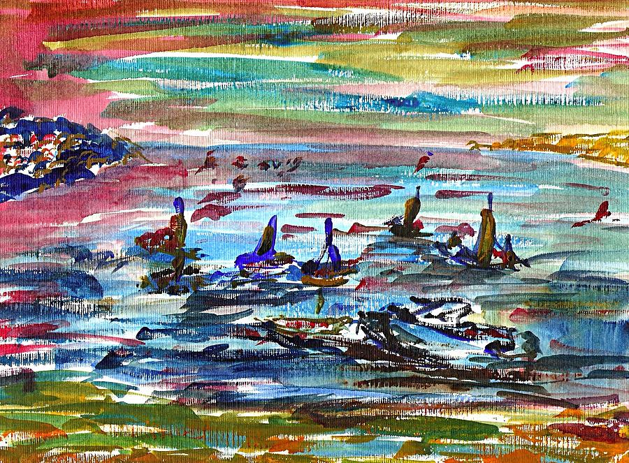 Seascape Painting - Instow Sea by Anthony Fox