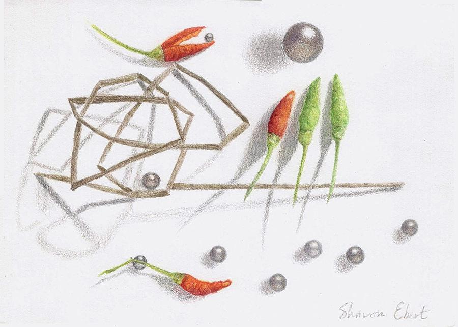 Colored Pencil Drawing - Integration by Sharon Ebert