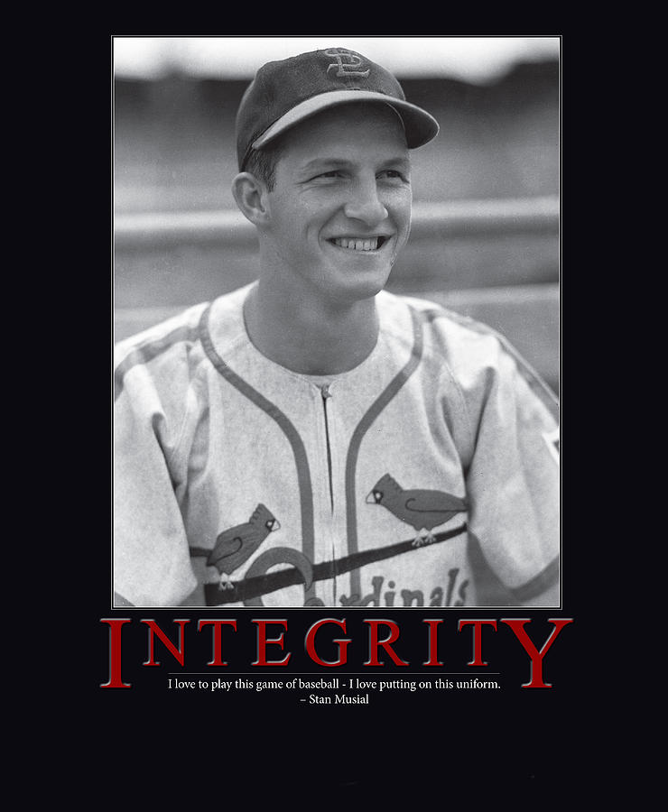 Stan Musial Photograph - Integrity Stan Musial by Retro Images Archive