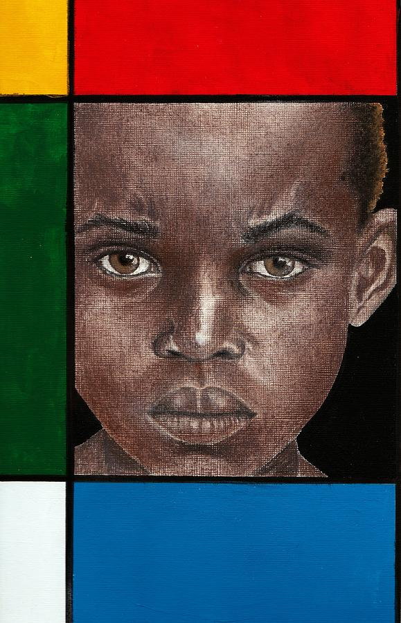 African American Artwork Mixed Media - Intense by Edith Peterson