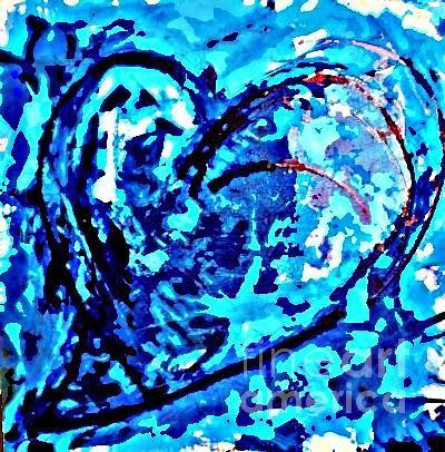 Heart Painting - Intense Heart 2 by DM Kent