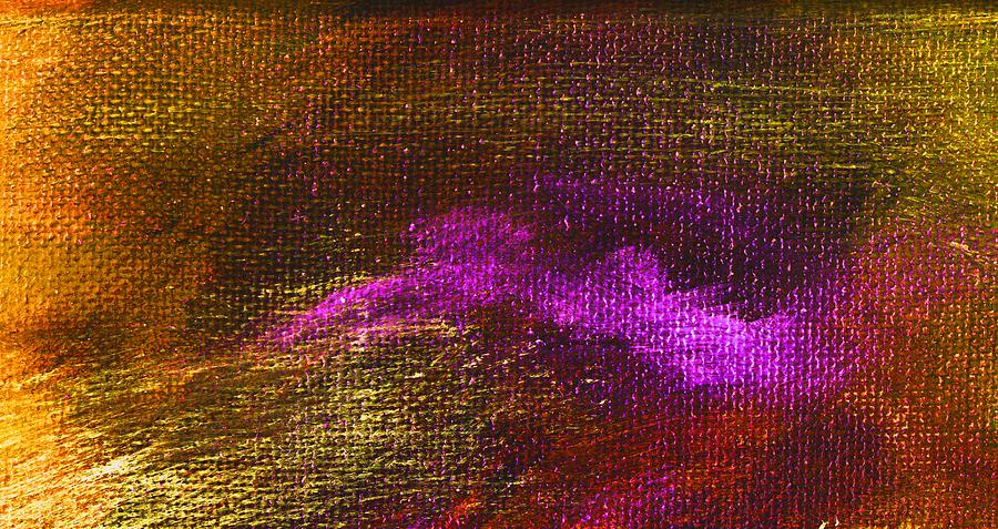 Abstract Painting - Intensity Golden Hue by L J Smith