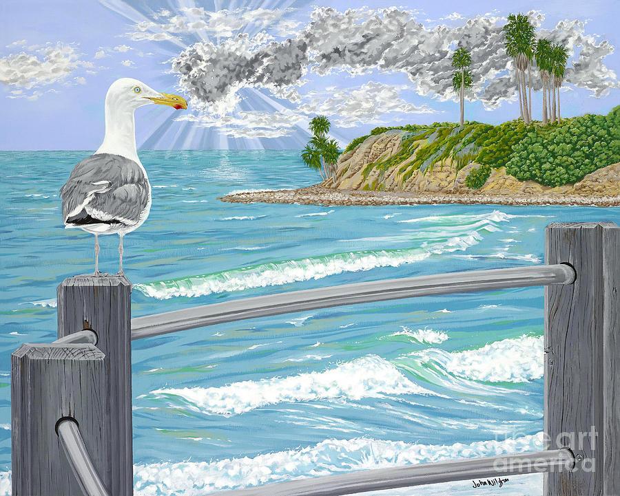 Sea Gull Painting - Intensity by John Wilson