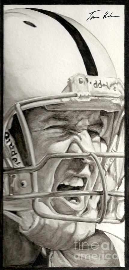 Football Painting - Intensity Peyton Manning by Tamir Barkan