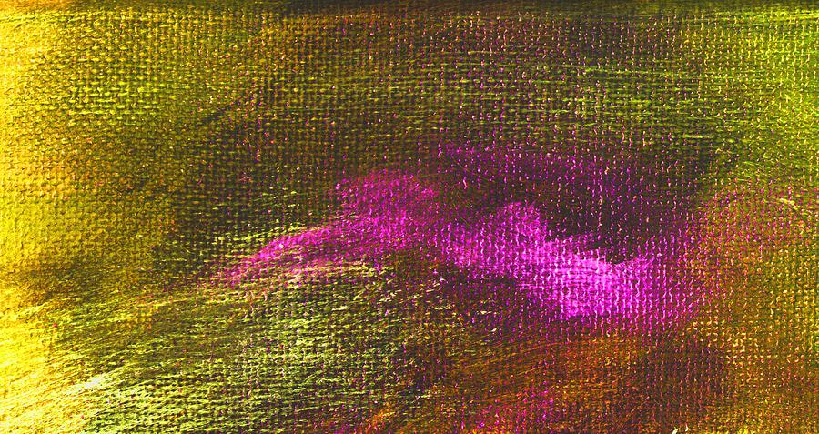 Abstract Painting - Intensity Yellow Pink Hue by L J Smith