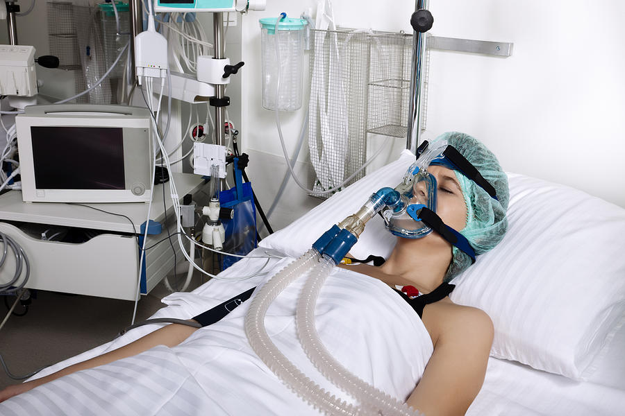 Intensive care patient Photograph by Uchar