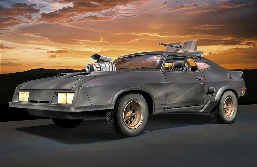 Road Warrior Digital Art - Interceptor II by Stuart Swartz