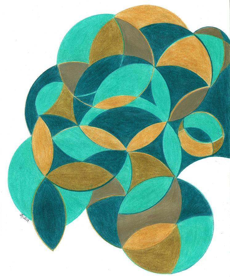 Interconnective Spheres  Mixed Media by Renee Sugar