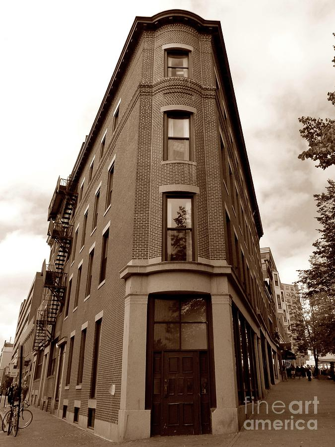 Architecture Photograph - Interesting Architecture In Downtown Portland Maine by Christine Stack