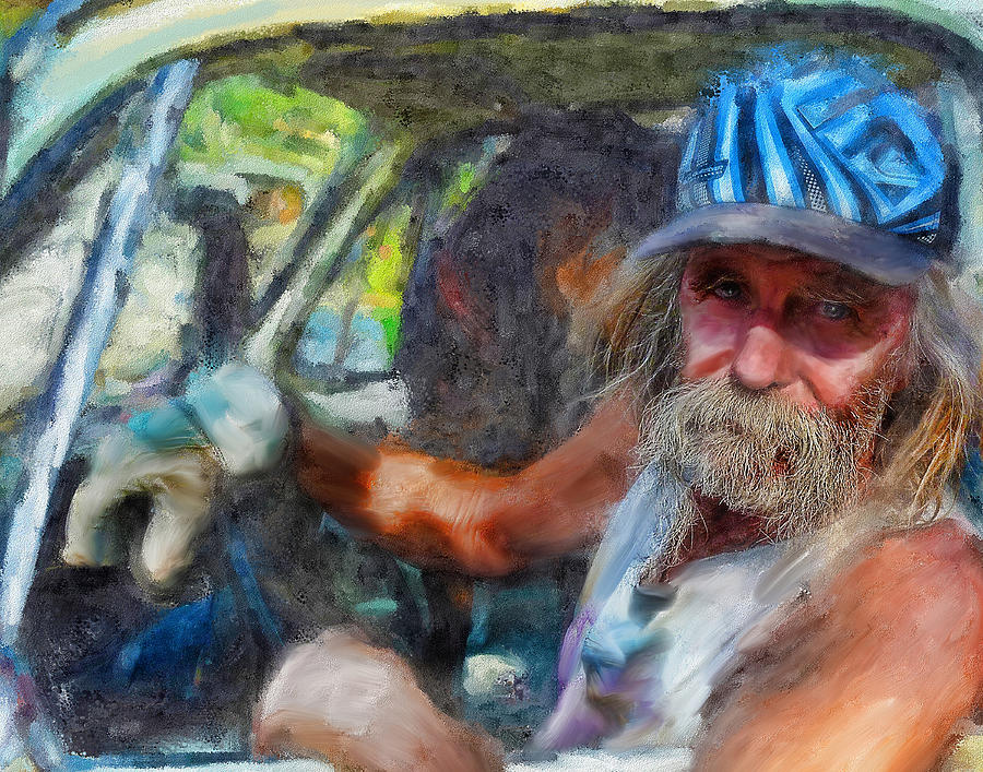 Artwork Digital Art - Interesting Guy by Cary Shapiro