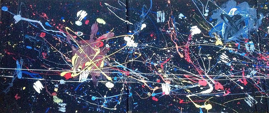 Intergalactic Painting - Intergalactic War - Left Panel by Adam Marx