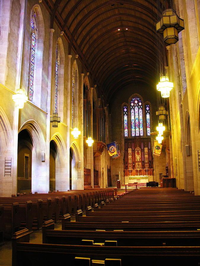 Muhlenberg College Photograph - Interior - Egner Memorial Chapel - Muhlenberg College by Jacqueline M Lewis
