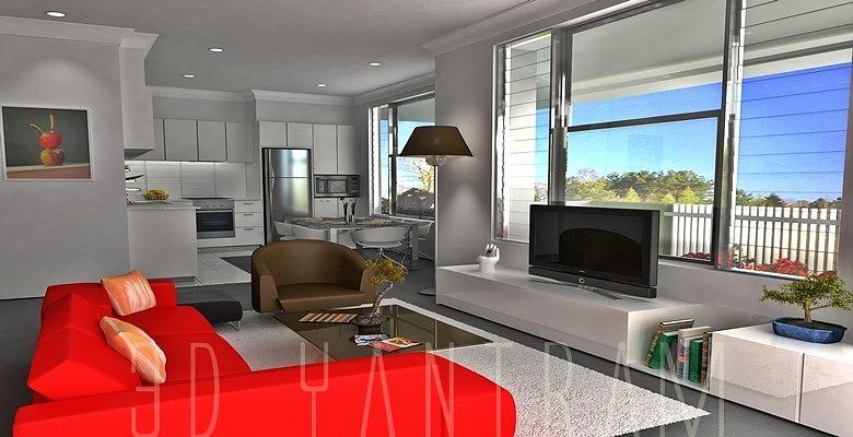 interior 3d Visualization Digital Art by Ruturaj Desai