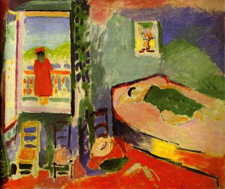 Interior at collioure painting by henri matisse for Matisse fenetre ouverte collioure