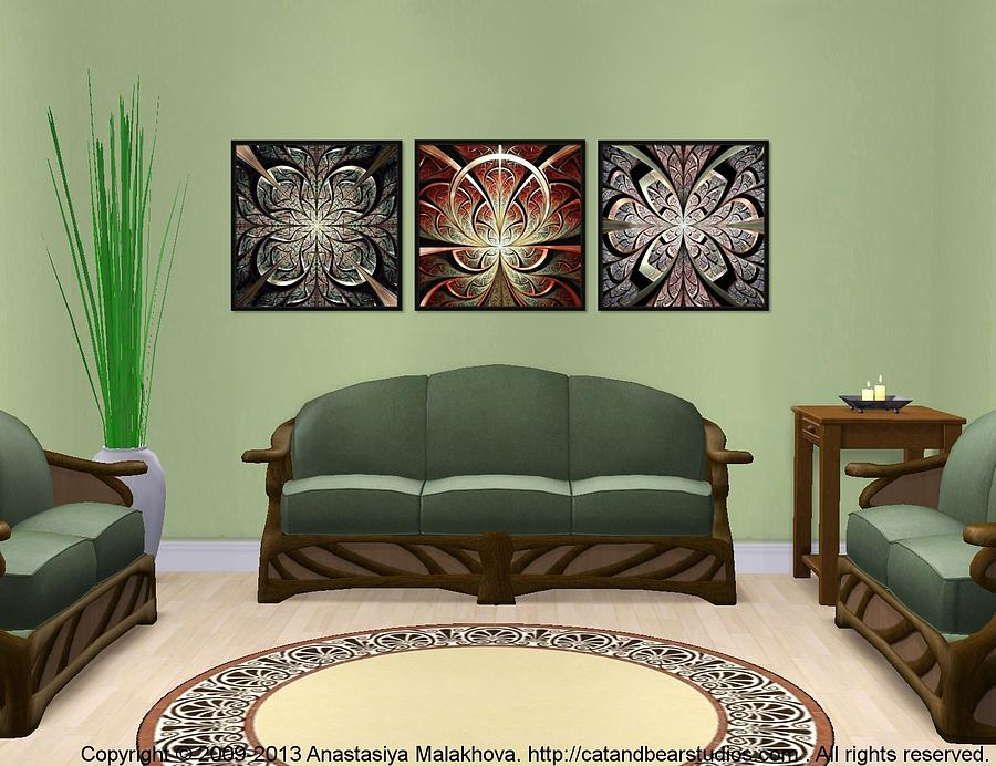 Series Digital Art - Interior Design Idea - Iron Gate - North Gates - South Gates by Anastasiya Malakhova