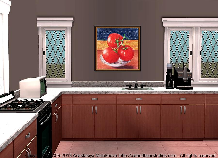 Interior Painting - Interior Design Idea - Tomatoes by Anastasiya Malakhova