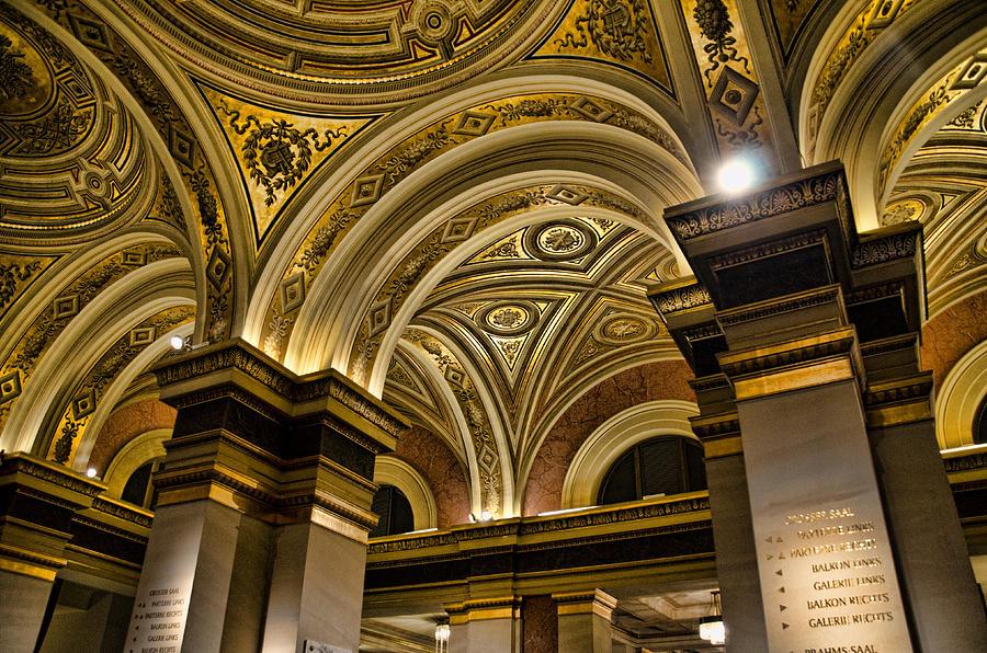 Gesellschaft Der Musikfreunde Photograph - Interior Gesellschaft Der Musikfreunde - Vienna by Jon Berghoff