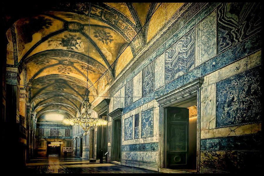 Hagia Sophia Photograph - Interior Narthex by Joan Carroll