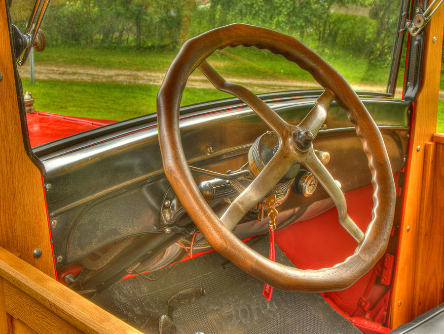 1926 Model T Ford Photograph - Interior Of A 1926 Model T Ford by Thomas Young