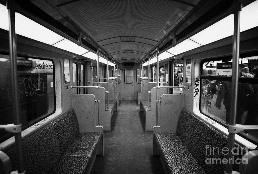 Berlin Photograph - Interior Of A German U-bahn Train Berlin Germany by Joe Fox