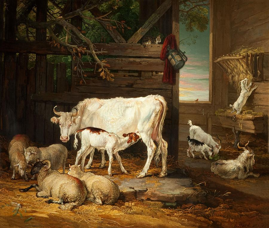 Stable Painting - Interior Of A Stable, 1810 by James Ward