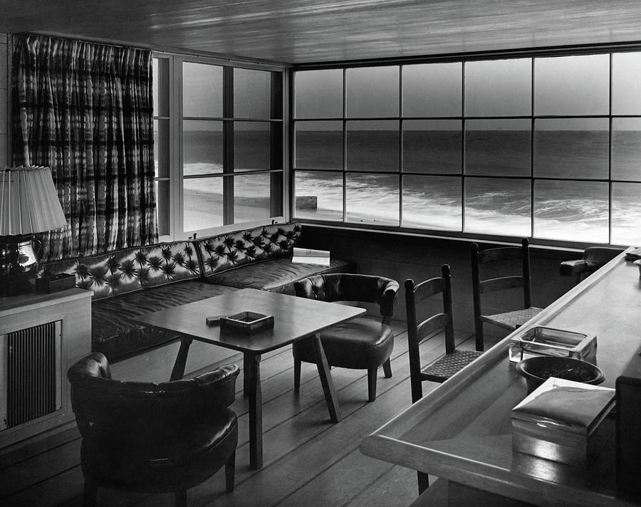 Interior Of Beach House Owned By Anatole Litvak Photograph by Fred R. Dapprich