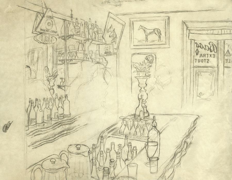 Interior Of Jack Mccanns Bar Digital Art by Carl Oscar August Erickson